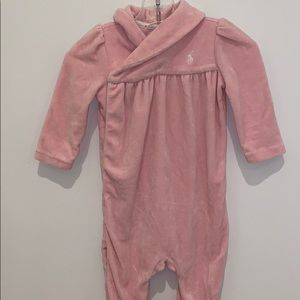 Ralph Lauren Baby Girl Fleece Coverall